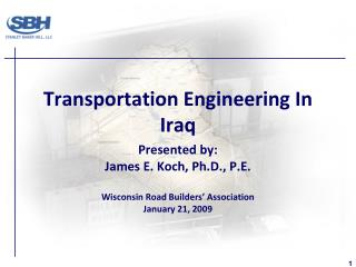 Transportation Engineering In Iraq