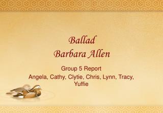 Ballad Barbara Allen