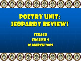 Poetry Unit: Jeopardy Review