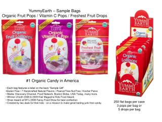 YummyEarth   Sample Bags Organic Fruit Pops