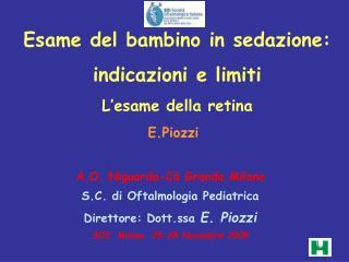 Esame del bambino in sedazione: indicazioni e limiti