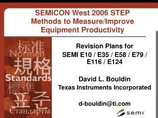 SEMICON West 2006 STEP Methods to Measure