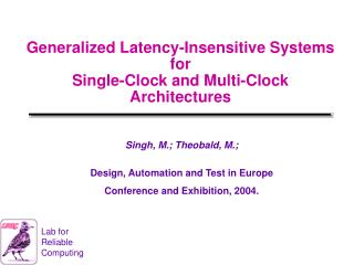 Generalized Latency-Insensitive Systems for Single-Clock and ...