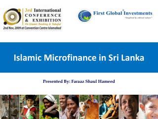 3rd ICEIBT 2009 - First Global Group - Microfinance in Sri Lanka