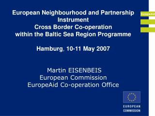 European Neighbourhood and Partnership Instrument Cross Border ...