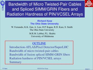 Bandwidth of Micro Twisted-Pair Cables and Spliced SIMMGRIN ...