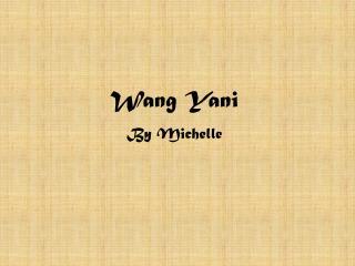 Wang Yani