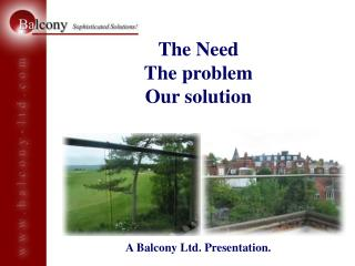 The Need The problem Our solution