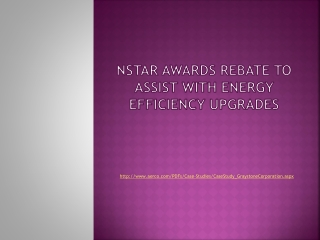 NStar awards rebate to assist with energy efficiency upgrade