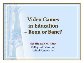 Video Games in Education