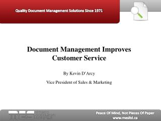 document management improves customer service