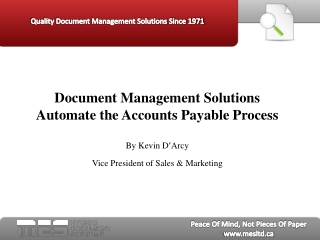 document management solutions automate the accounts payable
