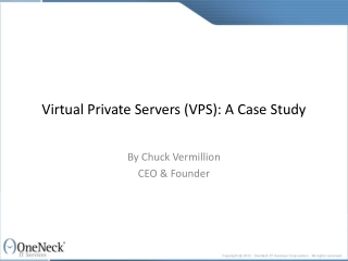 virtual private servers (vps): a case study
