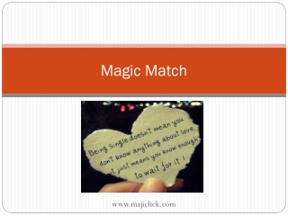 Match Magic – Find your Soul mate…!