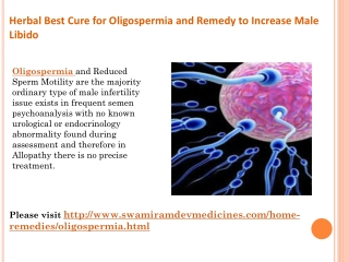 Herbal Best Cure for Oligospermia and Remedy to Increase Mal