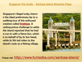 Singapore Trip Guide – Sentosa Island Attractive Place