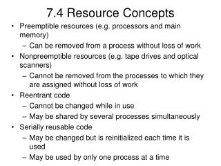 7.4 Resource Concepts
