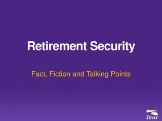 Retirement Security