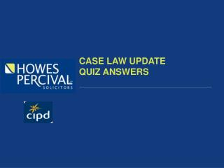 CASE LAW UPDATE QUIZ ANSWERS