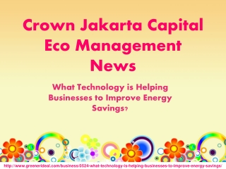 Crown Jakarta Capital Eco Management News:Helping Businesses