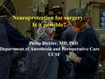 Perioperative CNS dysfunction risk