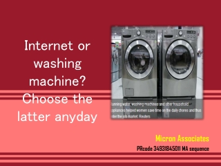 Internet or washing machine? Choose the latter anyday | AllV