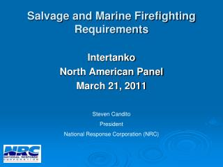 Salvage and Marine Firefighting Requirements