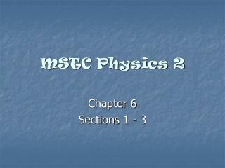 MSTC Physics 2