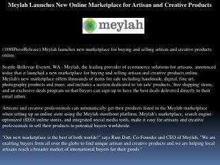 meylah launches new online marketplace for artisan and creat