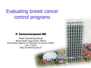 Evaluating breast cancer control programs