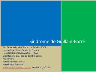 S ndrome de Guillain-Barr