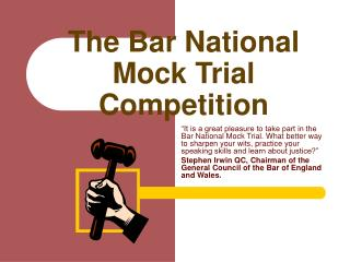 The Bar National Mock Trial Competition