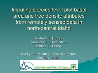 Imputing species-level plot basal area and tree density ...