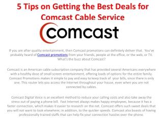 tip for landing the best comcast deals