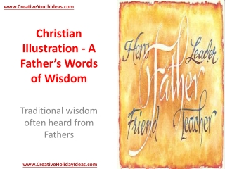 Christian Illustration - A Father's Words of Wisdom
