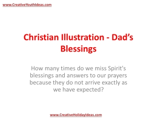 Christian Illustration - Dad's Blessings