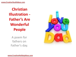Christian Illustration - Father's Are Wonderful People