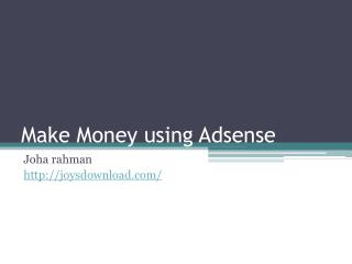 make money using adsense