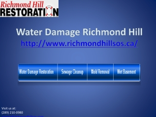 water damage richmond hill