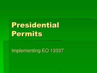 Presidential Permits