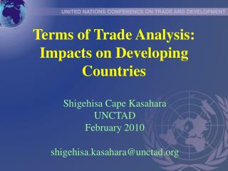 Terms of Trade Analysis: Impacts on Developing Countries