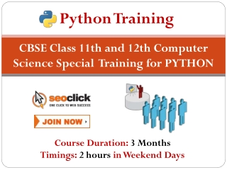 Learn Python- XI & XII Tuition Classes Available