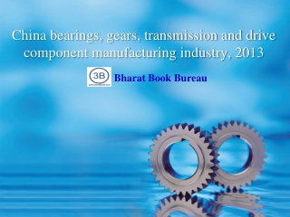 China bearings, gears, transmission and drive component manu