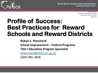 Reading Success Network Reading Excellence Act