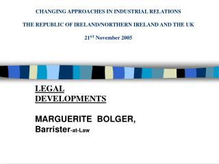 CHANGING APPROACHES IN INDUSTRIAL RELATIONS THE REPUBLIC OF ...