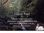 Ecology Part I