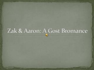 zak & aaron: a gost bromance