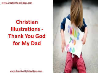 Christian Illustrations - Thank You God for My Dad