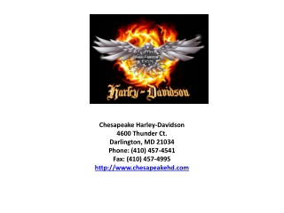 Harley Dealership in Maryland