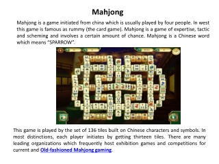 mahjong online free game